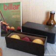 Coleccionismo deportivo: BOLAS DE BILLAR. AÑOS 60-70. SET DE 3 BOLAS.. Lote 195112305