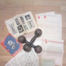 Coleccionismo deportivo: LOTE DEPORTES GIMNASIA ENTRENAMIENTO FÍSICO ATLETAS AÑOS 40. Lote 195230207