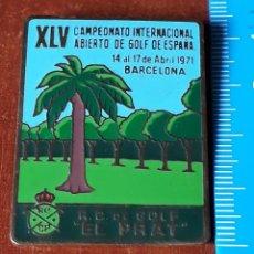 Coleccionismo deportivo: CHAPA CAMPEONATO DE GOLF AÑO 1971. Lote 195428770