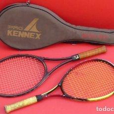 Coleccionismo deportivo: PAREJA DE RAQUETAS DE TENIS KENNEX..., AÑOS 90., CON SU FUNDA... Lote 196085811