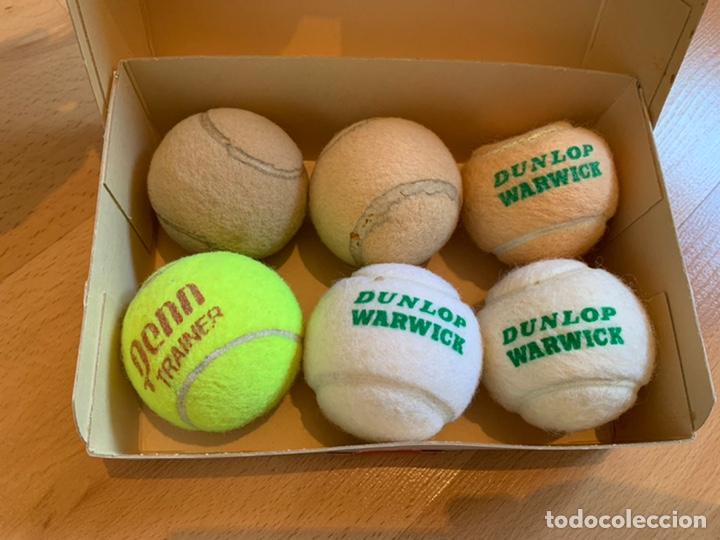 Coleccionismo deportivo: DUNLOP WARWICK. Caja Antigua +2 Bolas Nuevas + 4 Más - Foto 2 - 196242212