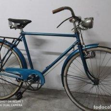 Coleccionismo deportivo: BICICLETA ORBEA CABALLERO CLASICA VARILLAS COMPLETA RESTAURADA, COLECCION, VINTAGE, FUNCIONANDO. Lote 198830225