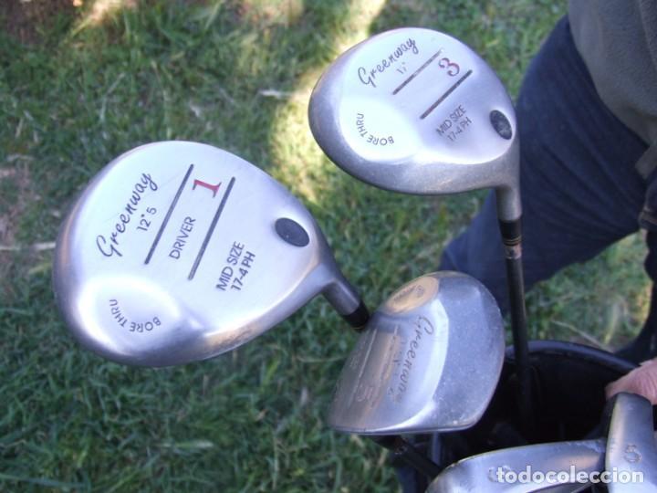 Coleccionismo deportivo: Saco de Golf con 13 palos y un par de pelotas - Foto 2 - 199316551