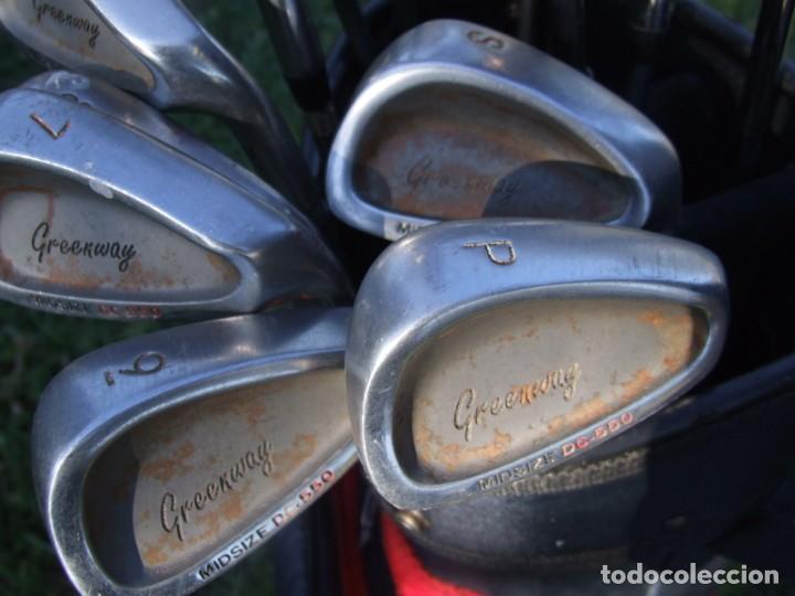 Coleccionismo deportivo: Saco de Golf con 13 palos y un par de pelotas - Foto 6 - 199316551