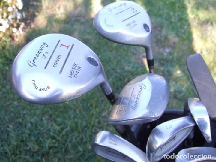 Coleccionismo deportivo: Saco de Golf con 13 palos y un par de pelotas - Foto 8 - 199316551