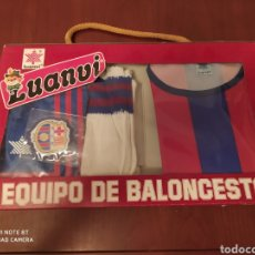 Coleccionismo deportivo: FC BARCELONA BALONCESTO MARCA LUANVI, ORIGINAL AÑOS 80 , TALLA 4. Lote 200289973