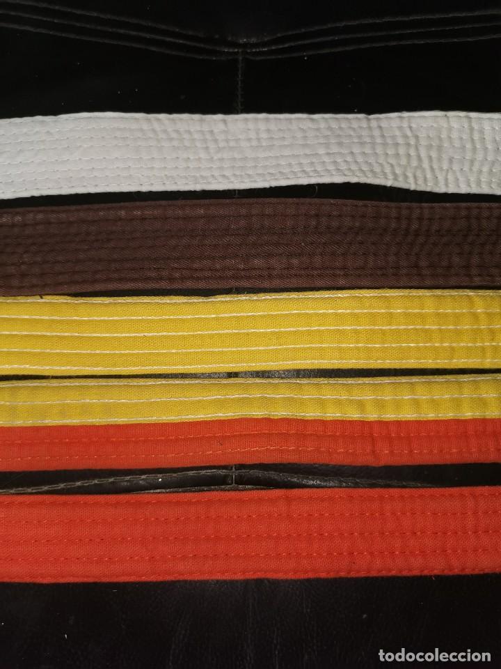5 CINTURONES DE YUDO ANTIGUOS (Coleccionismo Deportivo - Material Deportivo - Otros deportes)