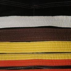 Coleccionismo deportivo: 5 CINTURONES DE YUDO ANTIGUOS. Lote 201116687