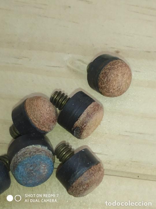 Coleccionismo deportivo: lote 10 puntas de cuero y rosca, buena calidad billar profesional - Foto 2 - 203332075
