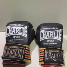 Coleccionismo deportivo: GUANTES DE BOXEO CHARLIE SPORT PROFESIONAL 12 - OZ BANKROBBER. Lote 204355287