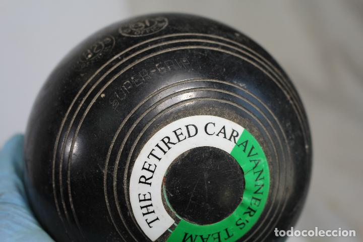 Coleccionismo deportivo: Juego 4 bolas, bolos ingleses, HENSELITE SUPER-GRIPE made in australia - Foto 2 - 205881205
