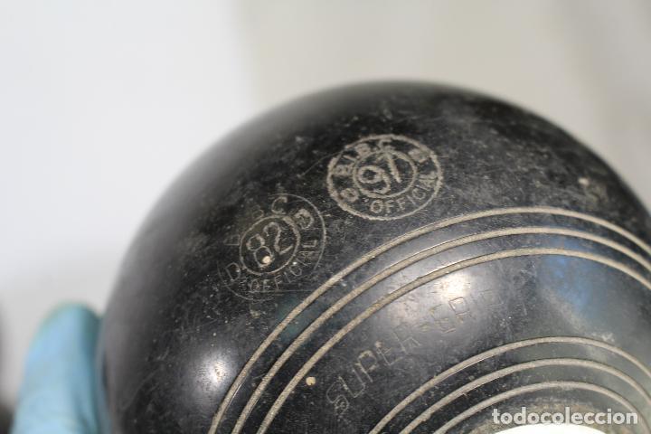 Coleccionismo deportivo: Juego 4 bolas, bolos ingleses, HENSELITE SUPER-GRIPE made in australia - Foto 4 - 205881205