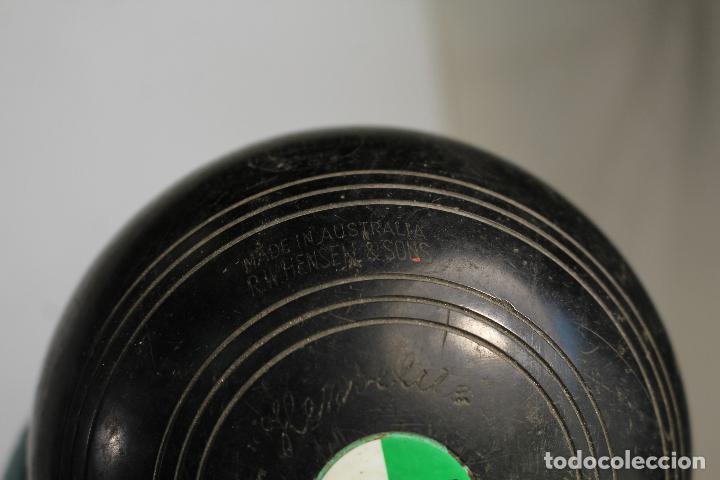 Coleccionismo deportivo: Juego 4 bolas, bolos ingleses, HENSELITE SUPER-GRIPE made in australia - Foto 5 - 205881205