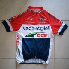 Coleccionismo deportivo: MAILLOT CICLISMO VACANSOLEIL 2012 PIM LIGTHART CAMPEÓN DE HOLANDA. TALLA L. Lote 206314878