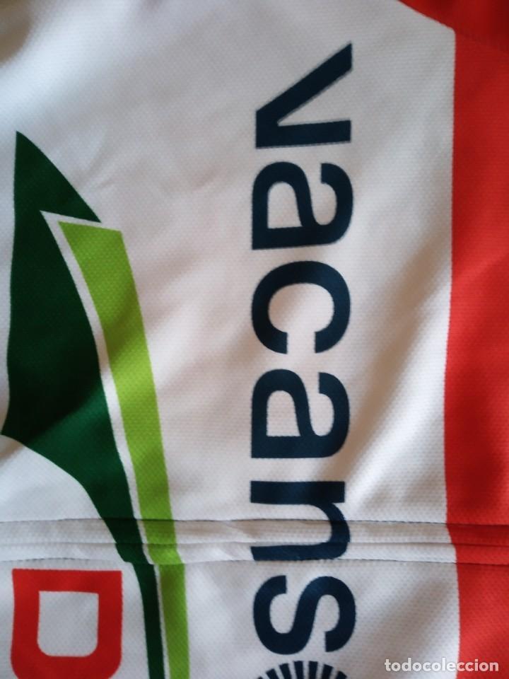 Coleccionismo deportivo: Maillot ciclismo Vacansoleil 2012 Pim Ligthart campeón de Holanda. Talla L - Foto 2 - 206314878