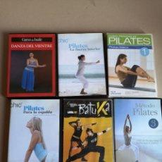 Coleccionismo deportivo: LOTE DE DVD'S DE PILATES, BATUKA LATIN Y DANZA DEL VIENTRE. Lote 206809705
