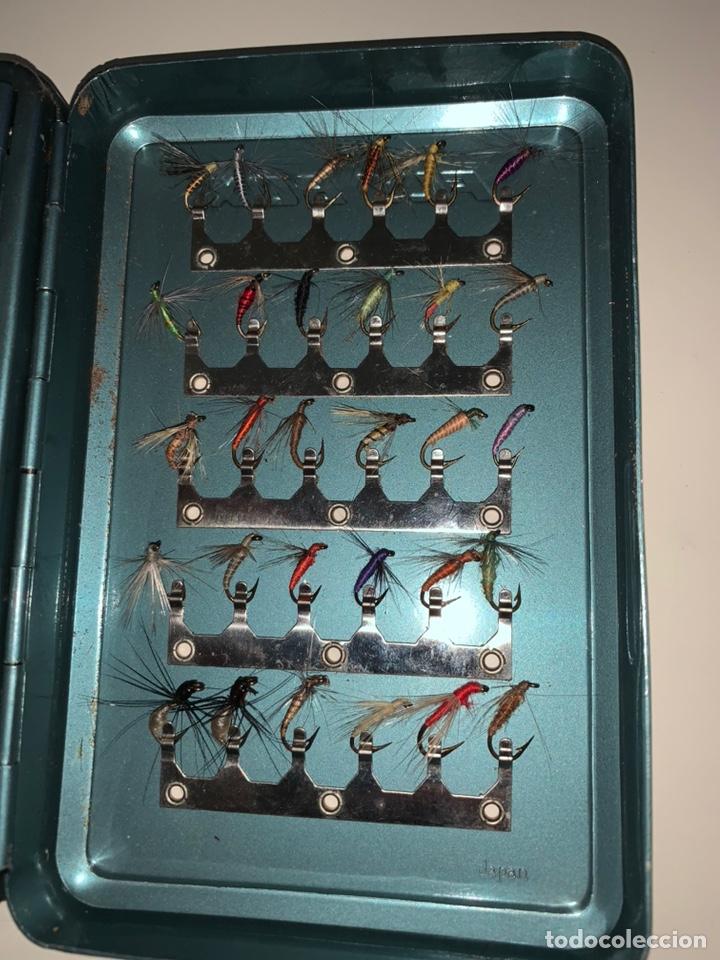 Coleccionismo deportivo: Pesca 36 cucharillas, hilo de pescar, anzuelos, varios lote - Foto 21 - 207400560