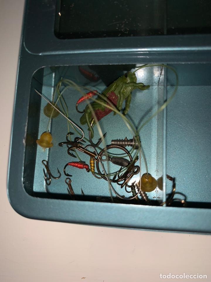 Coleccionismo deportivo: Pesca 36 cucharillas, hilo de pescar, anzuelos, varios lote - Foto 23 - 207400560