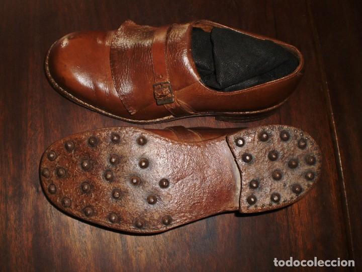 Coleccionismo deportivo: - GOLF - Zapatos piel sra. artesanales 1920s. - Foto 3 - 207477738