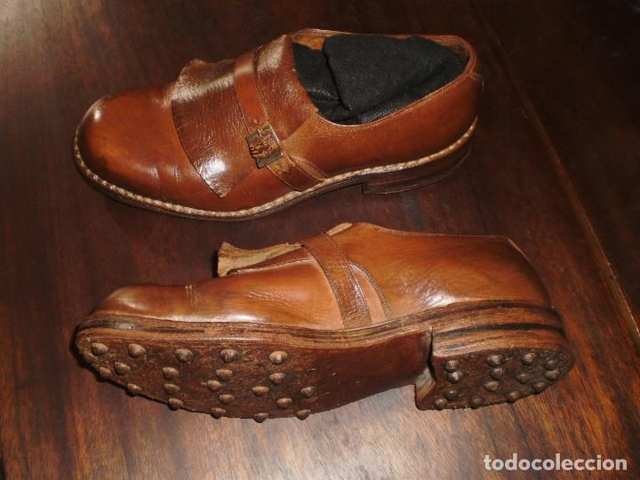 Coleccionismo deportivo: - GOLF - Zapatos piel sra. artesanales 1920s. - Foto 6 - 207477738