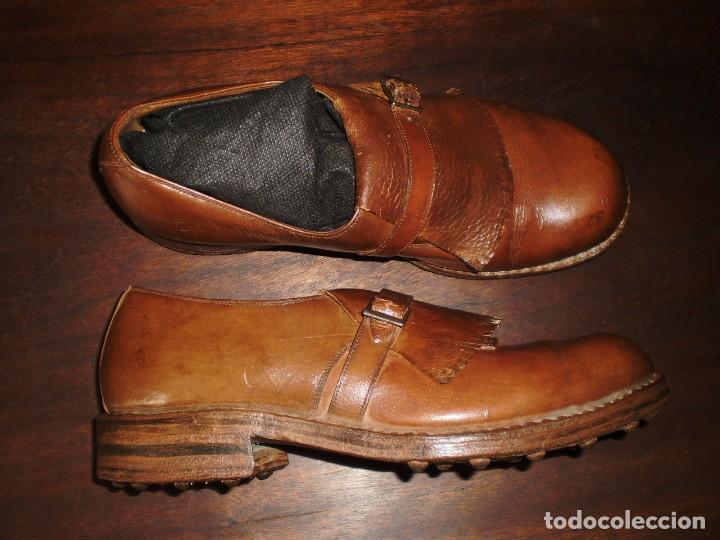Coleccionismo deportivo: - GOLF - Zapatos piel sra. artesanales 1920s. - Foto 7 - 207477738