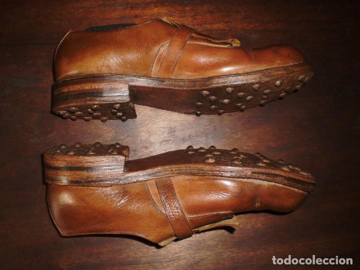 Coleccionismo deportivo: - GOLF - Zapatos piel sra. artesanales 1920s. - Foto 8 - 207477738