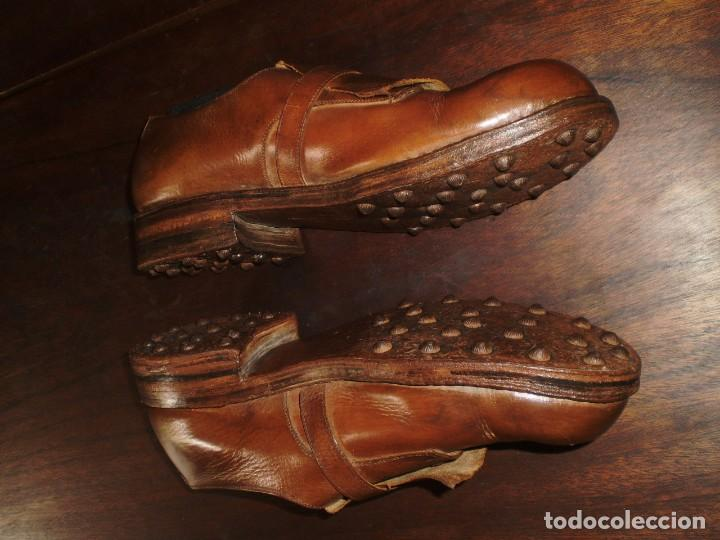Coleccionismo deportivo: - GOLF - Zapatos piel sra. artesanales 1920s. - Foto 9 - 207477738