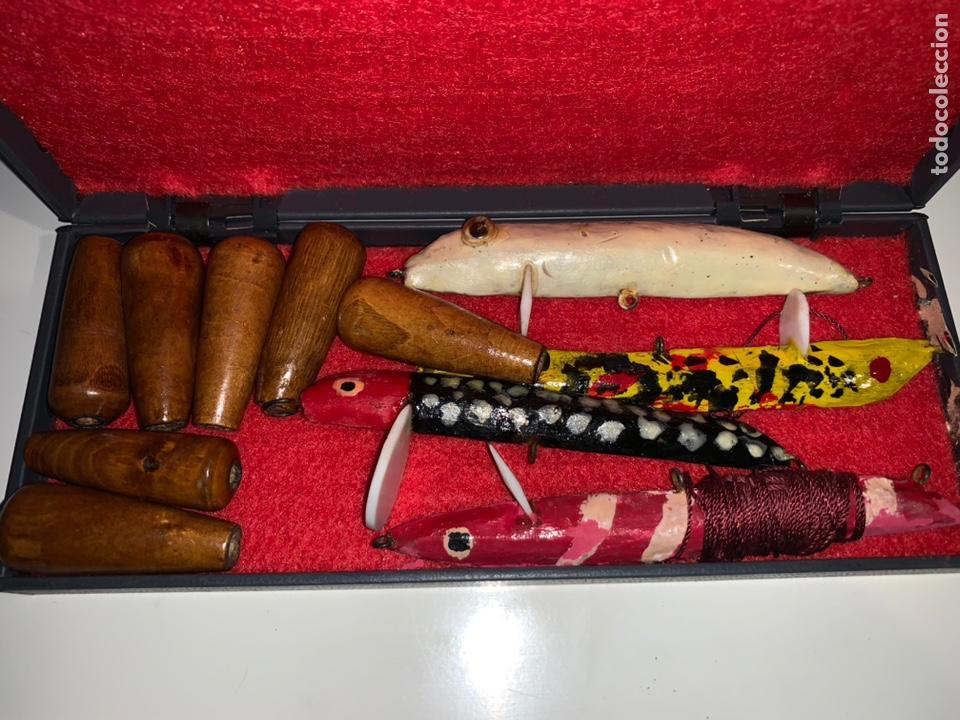 Coleccionismo deportivo: Gran lote artículos pesca anzuelos, cebos, carretes, hilo, cucharillas, boyas, plomos...etc - Foto 66 - 208433415