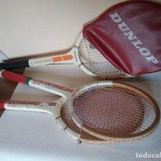 Coleccionismo deportivo: LOTE DE RAQUETAS ANTIGUAS DUNLOP PIONEER Y WINFIELD FALCON. Lote 211672299