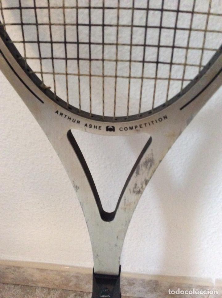 Coleccionismo deportivo: Antigua raqueta head funda original antigua y regalo de una moderna como se ve en la imagen - Foto 4 - 211681849