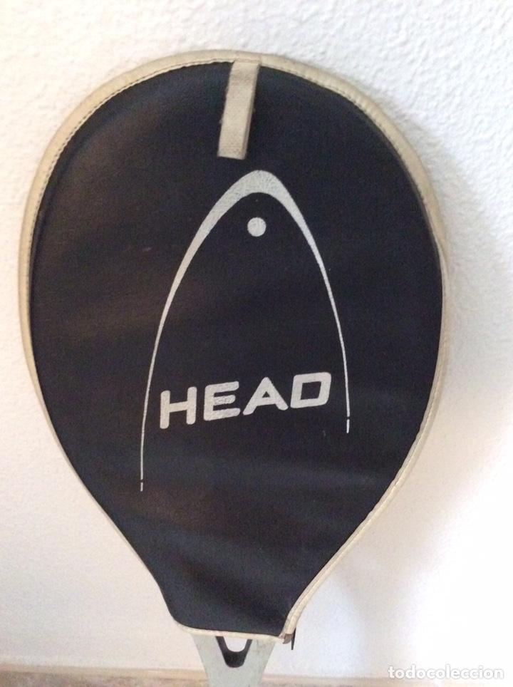 Coleccionismo deportivo: Antigua raqueta head funda original antigua y regalo de una moderna como se ve en la imagen - Foto 8 - 211681849
