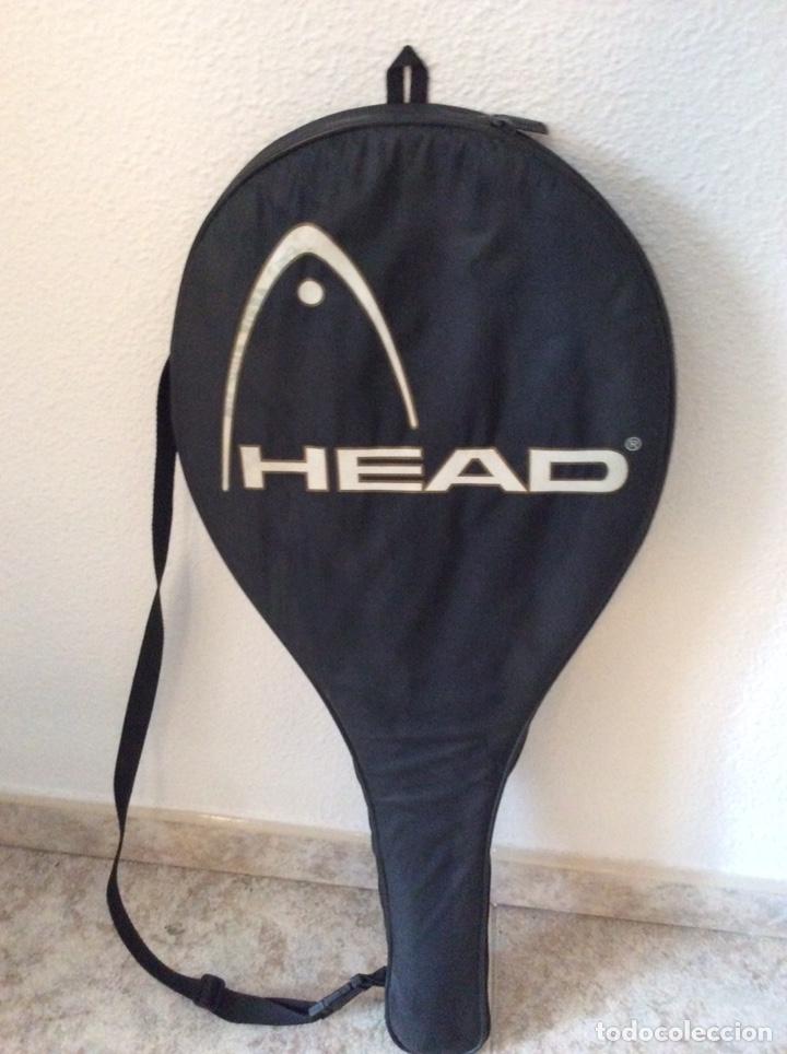 Coleccionismo deportivo: Antigua raqueta head funda original antigua y regalo de una moderna como se ve en la imagen - Foto 9 - 211681849
