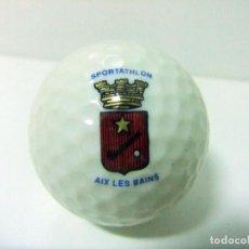 Coleccionismo deportivo: PELOTA GOLF GOLDEN RAM 4 LASER 392 AIX LES BAINS SPORTATHLON - TORNEO CLUB CAMPO DE FRANCIA FRANCE. Lote 215960671