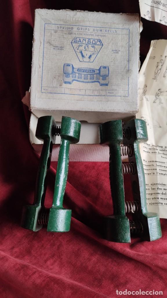 Coleccionismo deportivo: MANCUERNAS ANTIGUAS SANSON EDFERSAL 1950, FORTALECEDOR DE MANOS, - Foto 3 - 218782292