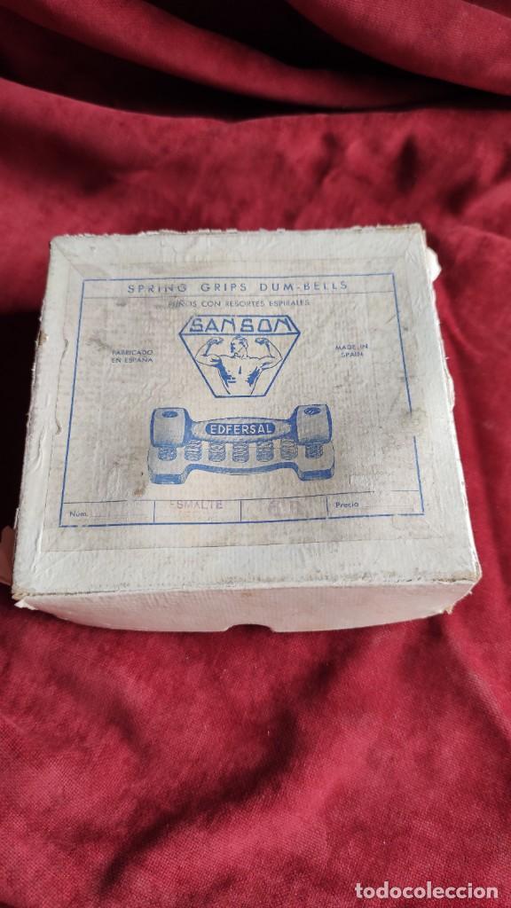 Coleccionismo deportivo: MANCUERNAS ANTIGUAS SANSON EDFERSAL 1950, FORTALECEDOR DE MANOS, - Foto 5 - 218782292