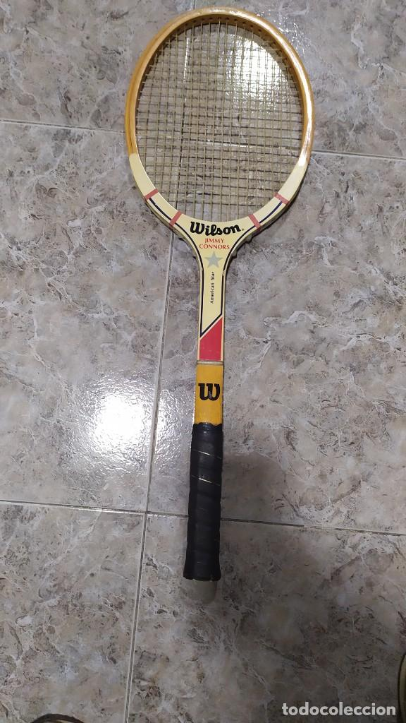 Coleccionismo deportivo: Raqueta de Tenis de madera Wilson Jimmy Connors - Foto 2 - 218809287