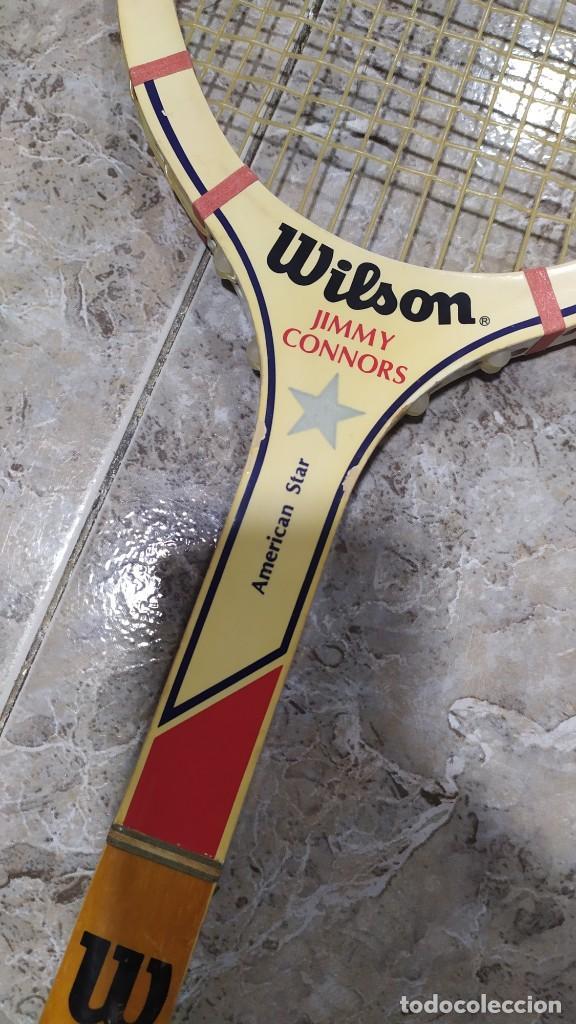 Coleccionismo deportivo: Raqueta de Tenis de madera Wilson Jimmy Connors - Foto 3 - 218809287