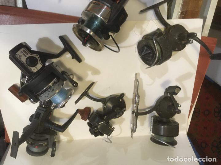 Coleccionismo deportivo: lote de seis carretes caña de pescar, 3 sagarra,carboran,sistar y bando. como se ven en las fotos - Foto 2 - 218822278