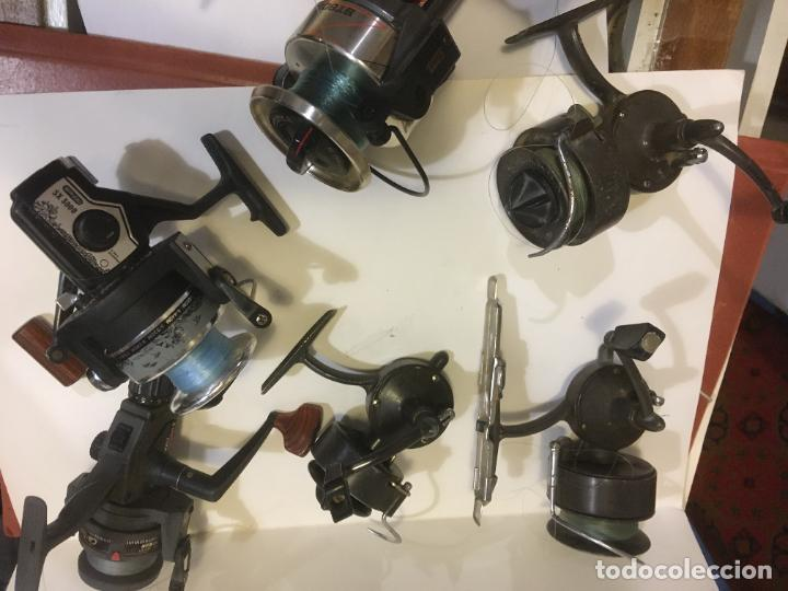 Coleccionismo deportivo: lote de seis carretes caña de pescar, 3 sagarra,carboran,sistar y bando. como se ven en las fotos - Foto 3 - 218822278