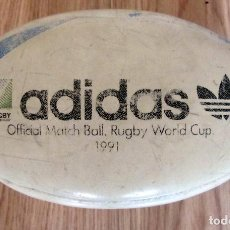 Coleccionismo deportivo: BALON RUGBY MUNDIAL 1991 ADIDAS OFFICIAL MATCH BALL WORLD CUP WEBB ELLIS. Lote 219704277