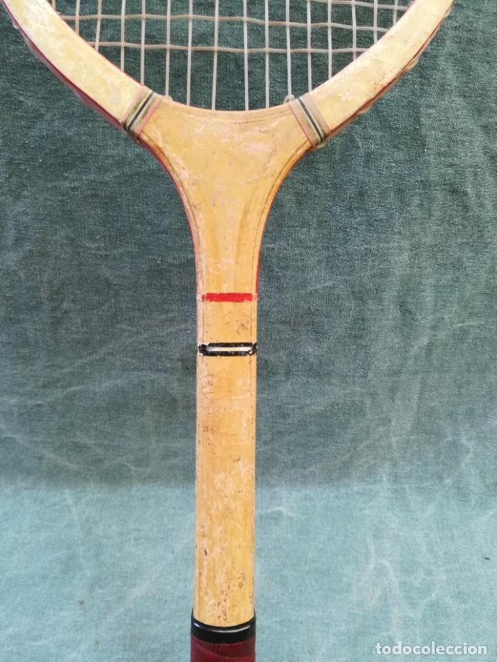 Coleccionismo deportivo: LOTE DE 2 - RAQUETA DE MADERA - FRONTÓN - BLUE STAR - Foto 9 - 221959323