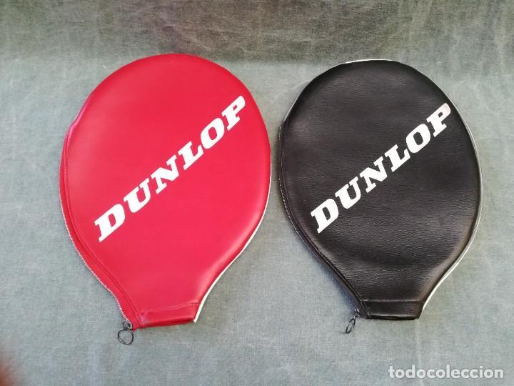 LOTE DE 2 - FUNDA PARA RAQUETA MARCA DUNLOP (Coleccionismo Deportivo - Material Deportivo - Otros deportes)