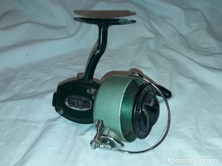 Coleccionismo deportivo: Antiguo Carreto de pesca Point-Ace 200 funciona - Foto 5 - 222041096