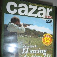 Coleccionismo deportivo: DVD DE LA REVISTA CAZAR MÁS. CURSO DE TIRO DE CAZA LECCIÓN V: EL SWING DE TIRO (I). LIEBRES.. Lote 222443913