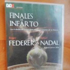 Coleccionismo deportivo: FINALES DE INFARTO - Nº 1 - ROGER FEDERER VS RAFAEL NADAL - ROLAND GARROS 2006 - DVD MARCA.. Lote 227246790