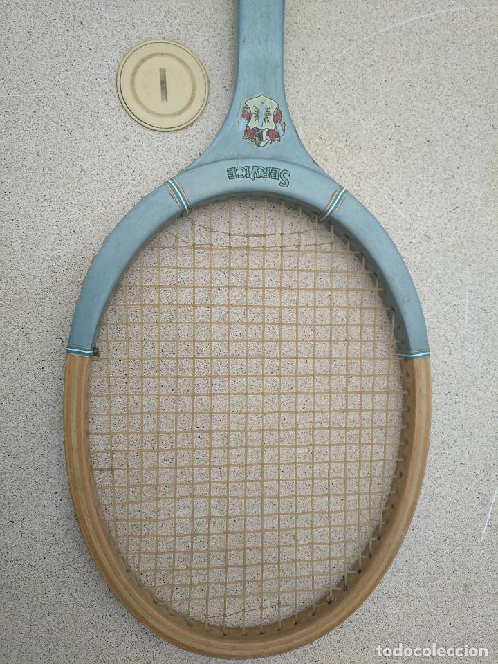 Coleccionismo deportivo: Raquetas de tenis de madera antiguas Slazenger - Foto 2 - 232853905