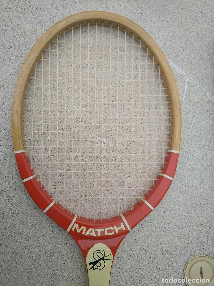 Coleccionismo deportivo: Raquetas de tenis de madera antiguas Slazenger - Foto 3 - 232853905