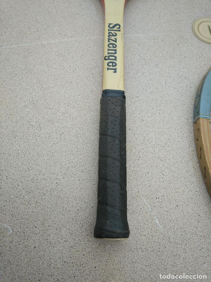 Coleccionismo deportivo: Raquetas de tenis de madera antiguas Slazenger - Foto 4 - 232853905