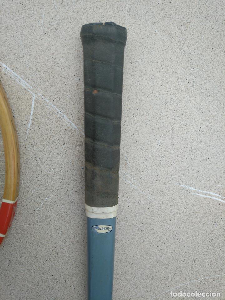 Coleccionismo deportivo: Raquetas de tenis de madera antiguas Slazenger - Foto 5 - 232853905