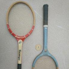 Coleccionismo deportivo: RAQUETAS DE TENIS DE MADERA ANTIGUAS SLAZENGER. Lote 232853905